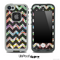 Abstract Color Swirls and Opaque Black V6 Chevron Pattern Skin for the iPhone 5 or 4/4s LifeProof Case