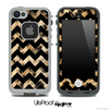 Real Cheetah and Black V6 Chevron Pattern Skin for the iPhone 5 or 4/4s LifeProof Case