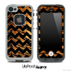 Tiger Print and Black V6 Chevron Pattern Skin for the iPhone 5 or 4/4s LifeProof Case