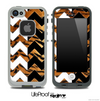 Tiger Print & Black/White Chevron Pattern Skin for the iPhone 5 or 4/4s LifeProof Case