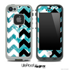 Turquoise Paisley & Black/White Chevron Pattern Skin for the iPhone 5 or 4/4s LifeProof Case