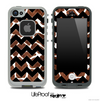 Real Giraffe & Opaque Black V6 Chevron Pattern Skin for the iPhone 5 or 4/4s LifeProof Case