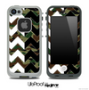 Traditional Camo & Black/White Chevron Pattern Skin for the iPhone 5 or 4/4s LifeProof Case