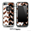 Real Giraffe & Black/White Chevron Pattern Skin for the iPhone 5 or 4/4s LifeProof Case