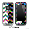 Neon Sprinkles & Black/White Chevron Pattern Skin for the iPhone 5 or 4/4s LifeProof Case