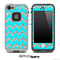 Aqua Blue and Colorful Dotted V2 Chevron Pattern Skin for the iPhone 5 or 4/4s LifeProof Case