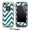 Large Chevron and Black Laced Skin for the iPhone 5 or 4/4s LifeProof Case