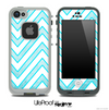 Large Chevron and Subtle Blue Skin for the iPhone 5 or 4/4s LifeProof Case