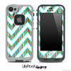 Large Chevron and Color Vintage Striped Skin for the iPhone 5 or 4/4s LifeProof Case