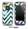 Large Chevron and Color Feathers Skin for the iPhone 5 or 4/4s LifeProof Case