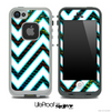 Large Chevron and Large Peacock Skin for the iPhone 5 or 4/4s LifeProof Case