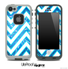 Large Chevron and Blue Fireworks V3 Skin for the iPhone 5 or 4/4s LifeProof Case