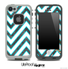 Large Chevron and Dark Wood Skin for the iPhone 5 or 4/4s LifeProof Case