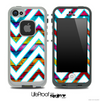 Large Chevron and Neon Wood Skin for the iPhone 5 or 4/4s LifeProof Case