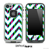 Large Chevron and Neon Striped Skin for the iPhone 5 or 4/4s LifeProof Case