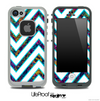 Large Chevron and Neon Robots Skin for the iPhone 5 or 4/4s LifeProof Case