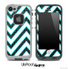 Large Chevron and Black Plaid Skin for the iPhone 5 or 4/4s LifeProof Case