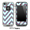 Large Chevron and Pink Plaid Skin for the iPhone 5 or 4/4s LifeProof Case