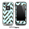 Large Chevron and Real Giraffe Skin for the iPhone 5 or 4/4s LifeProof Case
