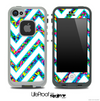 Large Chevron and Neon Sprinkles Skin for the iPhone 5 or 4/4s LifeProof Case