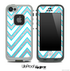 Large Chevron and Silver Sparkle Skin for the iPhone 5 or 4/4s LifeProof Case