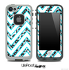 Large Chevron and Real Leopard Skin for the iPhone 5 or 4/4s LifeProof Case