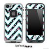 Large Chevron and Tiny Pink Paws Skin for the iPhone 5 or 4/4s LifeProof Case