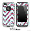 Large Chevron and Red Paisley V3 Skin for the iPhone 5 or 4/4s LifeProof Case