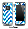 Large Chevron and Blue V6 Skin for the iPhone 5 or 4/4s LifeProof Case