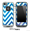 Large Chevron and Blue Pastel Skin for the iPhone 5 or 4/4s LifeProof Case