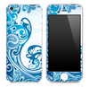Abstract Blue Swirled V3 Skin for the iPhone 3gs, 4/4s or 5