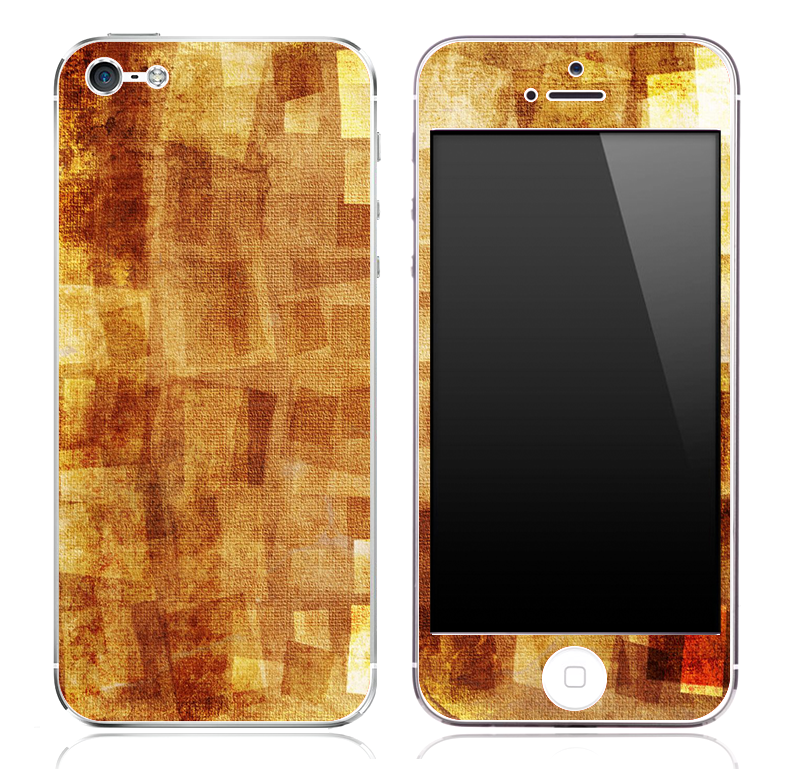 Abstract Color Orange V5 Skin for the iPhone 3gs, 4/4s or 5