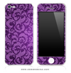 Purple Lace iPhone Skin