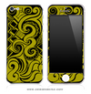 Abstract Gold Swirls iPhone Skin by Lauren Pyles