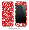 Floral Sprout Red iPhone Skin