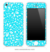 Turquoise Floral Sprout iPhone Skin