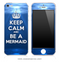 Underwater Keep Calm and Be A Mermaid iPhone Skin