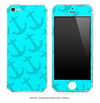 Light Turquoise Anchor Bundle iPhone Skin