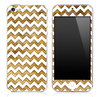 Furry Animal under White Chevron Pattern Skin for the iPhone 3, 4/4s or 5