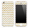 Vintage Polka Dot under White Chevron Pattern Skin for the iPhone 3, 4/4s or 5