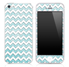 Subtle Blue under White Chevron Pattern Skin for the iPhone 3, 4/4s or 5