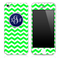 Lime Green Custom Monogram Chevron Pattern Skin for the iPhone 3, 4/4s or 5