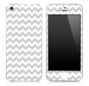 Gray And White Chevron Pattern Skin for the iPhone 3, 4/4s or 5