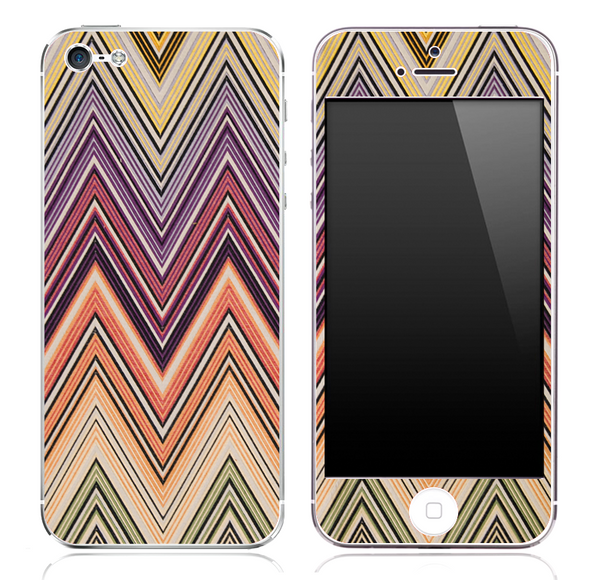 Colorful Vintage V2 Chevron Pattern Skin for the iPhone 3, 4/4s or 5