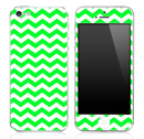 Lime Green Chevron Pattern Skin for the iPhone 3, 4/4s or 5