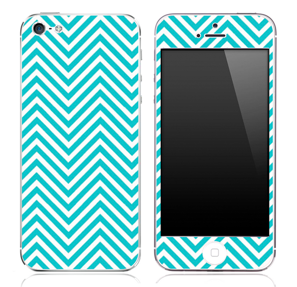 Blue Chevron Pattern Skin for the iPhone 3, 4/4s or 5