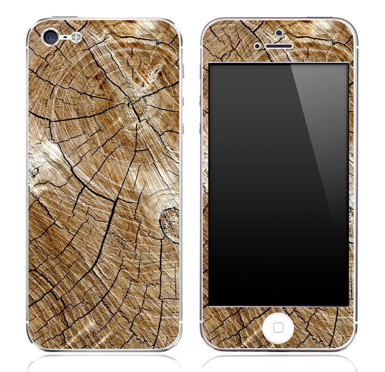 The Cracked Wood skin for the iPhone 3g, 4/4s or 5