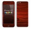Rich Red Wood Skin For The iPhone 5c