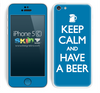 Blue Keep Calm and Have A Beer Skin For The iPhone 5c