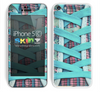 Turquoise Converse Shoestring Skin For The iPhone 5c
